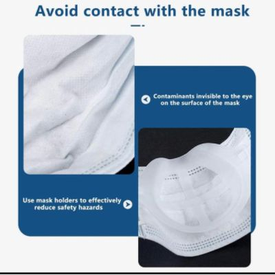 3D Face Mask Support Bracket - Prevents Contact with Mask